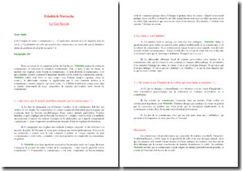 Nietzsche, Le Gai Savoir, paragraphe 355