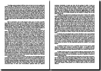 Dissertation sur le théâtre d'après une citation de Victor Hugo : pays du réel ou du vrai ?