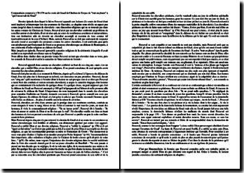 Dissertation sur Perceval de Chrétien de Troyes : la cérémonie au château du Graal