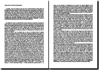 Dissertation sur L'héritage, conte africain, tiré des Contes d'Amadou Koumba de Birago Diop