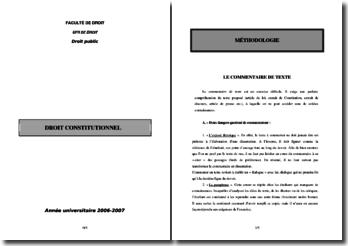 Méthode du commentaire de texte en droit public