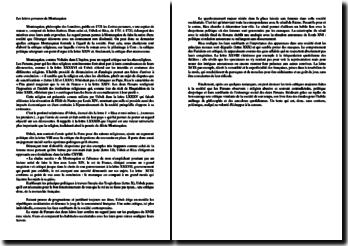 Synthèse sur les critiques énoncées dans « Les lettres persanes » de Montesquieu