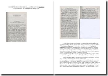Commentaire de texte de la lettre 125 des Liaisons Dangereuses