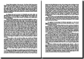 Dissertation sur le rôle de la littérature dans le débat d'idées