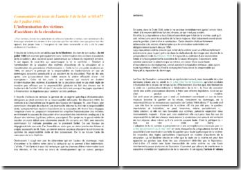 La loi Badinter et le commentaire de l'article 3 de la loi du 5 juillet 1985