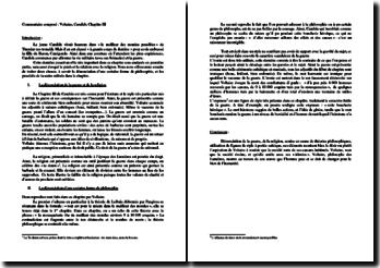 Candide, Chapitre 3 : commentaire composé (axes: les différentes dénonciations)