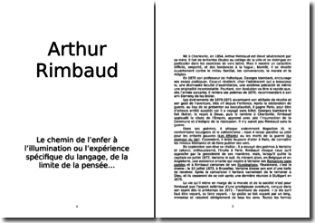 De l'enfer à l'illumination (A. Rimbaud)