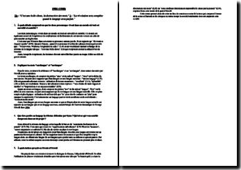 Questions de préparation sur un extrait de 1984 de G. Orwell