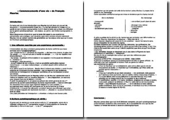 Mauriac, Commencements d'une vie, Introduction