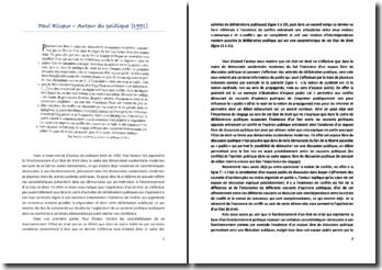 Paul Ricoeur : Autour du politique, 1991