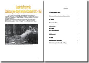 Analyse de l'Odalisque (Jean-Joseph Benjamin Constant) : musée des Beaux-Arts de Narbonne