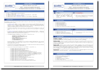 Fiche pédagogique : exigences générales pour la documentation