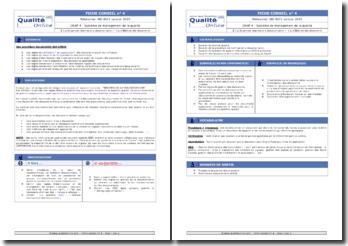Fiche pédagogique : exigences pour la maîtrise de la documentation