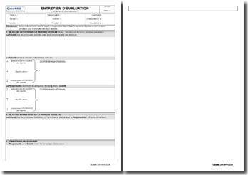 Dossier d'évaluation individuelle du personnel