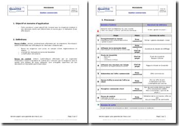 Exemple de procédure de gestion commerciale