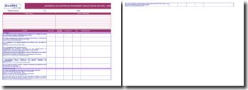 Support de diagnostic ISO 9001
