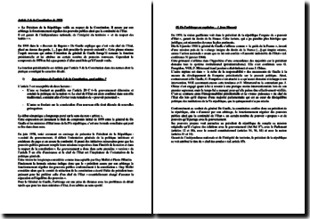 Analyse de l'article 5 de la Constitution de 1958