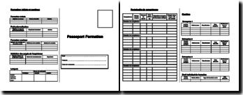 Le passeport formation : document de suivi de formation