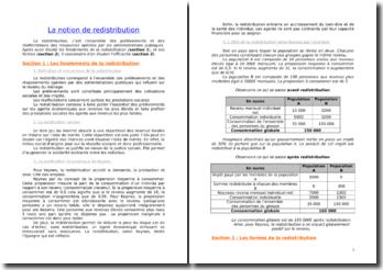 La notion de redistribution : fondements, forme et efficacité