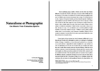Naturalisme et photographie
