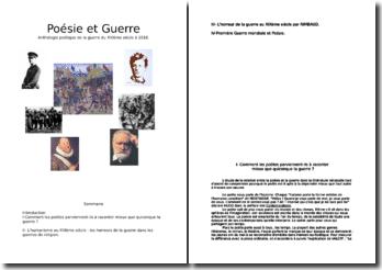 Anthologie de la poétique de la guerre du XVIème siècle à 1918