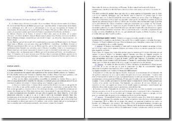 Hegel : la dialectique du maître et de l'esclave (explication d'un texte de Kojève)