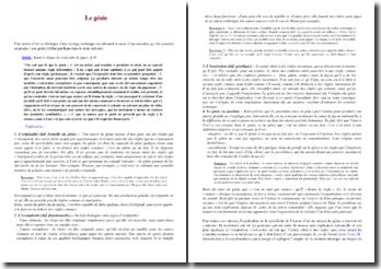 Explication de texte : Kant, sur le génie, Critique de la faculté de juger, § 46