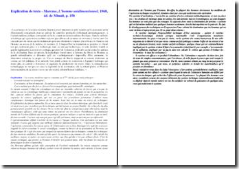 Explication d'un texte de Marcuse : technique et politique ; les instruments de domination de l'homme par l'homme