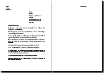 Lettre de contestation du motif de licenciement