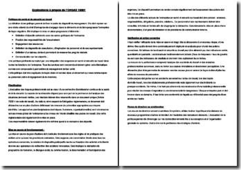 Explications à propos de l'OHSAS 18001