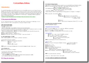 Boileau, L'Art poétique, Etude d'un extrait (Enfin Malherbe vint...)