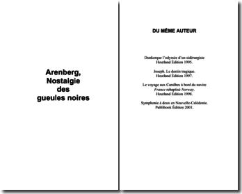 Fuchs Guy, Arenberg, nostalgie des gueules noires