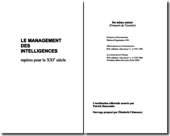 Teyssier (de) François, Le Management des intelligences