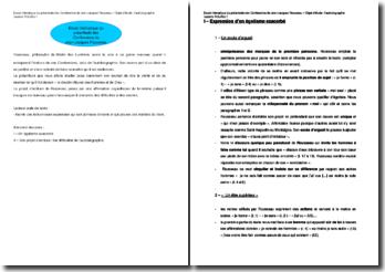 Rousseau : analyse du préambule des Confessions