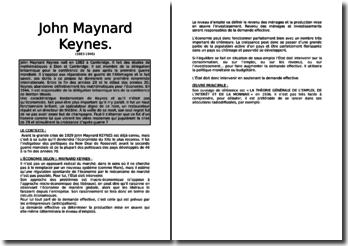 Keynes : ses pensées, sa réussite
