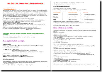 Les lettres persanes de Montesquieu : passage de la description d'un théâtre parisien