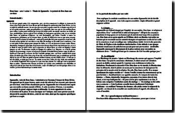 Commentaire : Molière, Dom Juan, Acte I scène 1, Tirade de Sganarelle : le portrait de Dom Juan par son serviteur