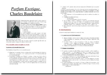 Charles Baudelaire, Parfum Exotique (Quand, les deux yeux fermés...)