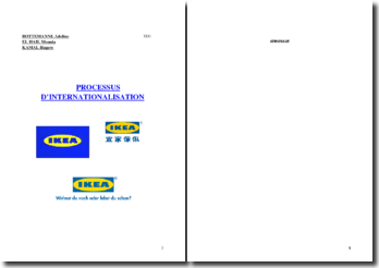 Le processus d'internationalisation d'IKEA