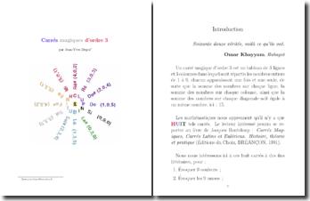 Les carrés magiques d'ordre 3 en prose