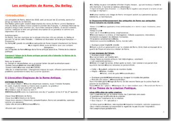 Les antiquités de Rome - poème 25 (Que n'ay-je encore la harpe Thracienne...) (Du Bellay)