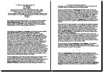 Analyse d'une oeuvre : Marcel Duchamp, Nu descendant un escalier, N° 2