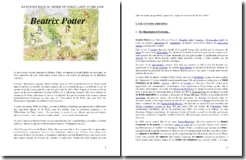 Auteur de littérature jeunesse : Béatrix Potter