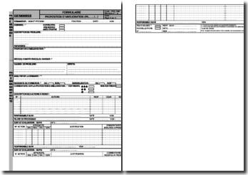 Modèle de proposition d'amélioration (action corrective/préventive) conforme à la norme ISO 9001 version 2008