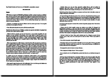 Jean-Claude Carrière, La Controverse de Valladolid, Commentaire composé d'un extrait