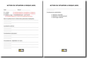 Carnet actions ou situations à risques (ASR)