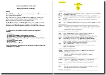 Pack CV et lettres de motivation en français, anglais et allemand