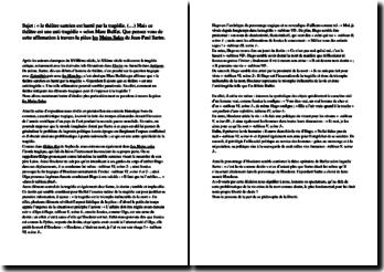 Dissertation sur la tragédie chez Sartre à travers la pièce Les Mains sales