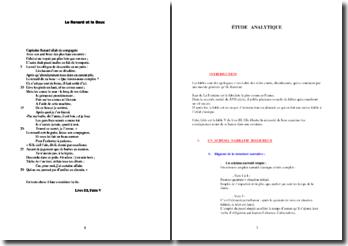 La Fontaine, Le Renard et le Bouc (étude analytique)