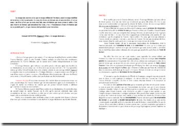 Dissertation sur une citation de Genette tirée de L'Utopie Littéraire (Le temps des oeuvres n'est pas le temps...)